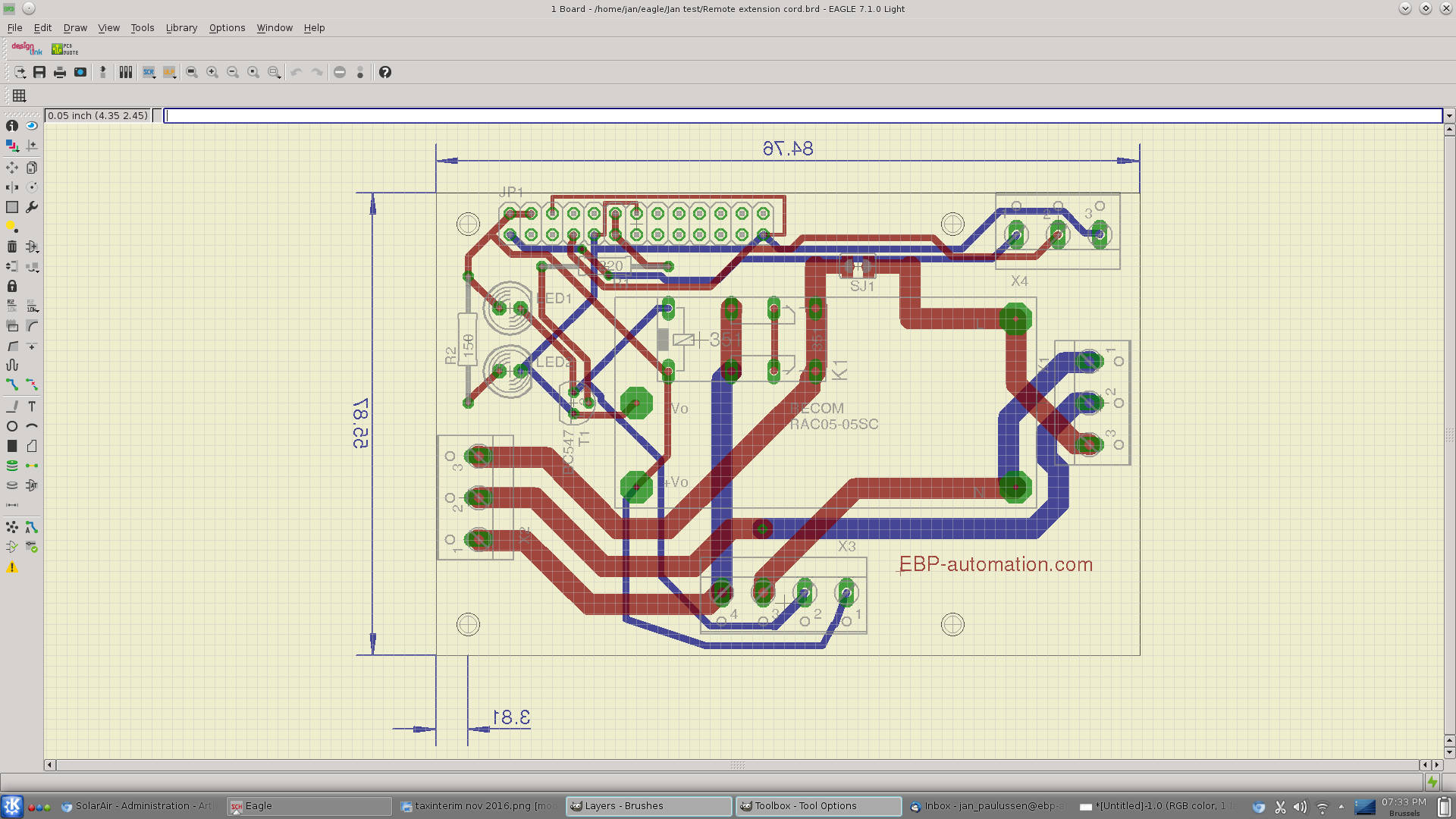 The Hardware Of Controller Eagle Cad Schematic Display Below Pcb Design In Designer